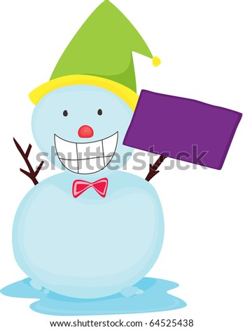 illustration of snowman on a white background