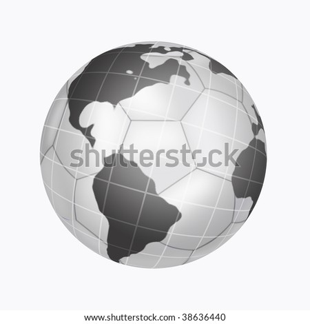 Illustration of soccer ball on background planets