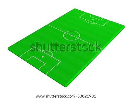 Illustration of Soccer pitch viewed from a side angle