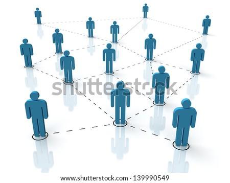 illustration of social network - stock photo