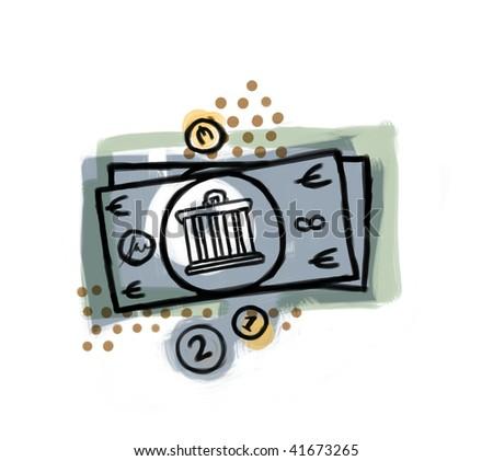 Illustration of some money. - stock photo