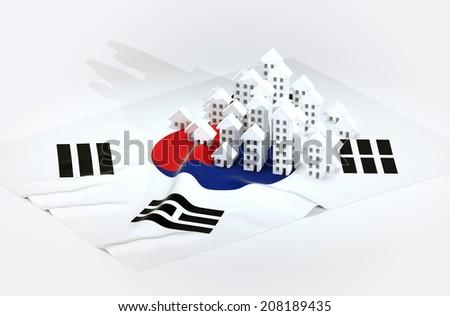 Illustration of south korean real-estate development  - stock photo