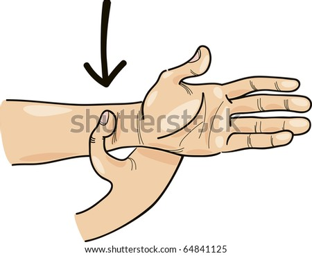 Illustration of special acupressure point on hand