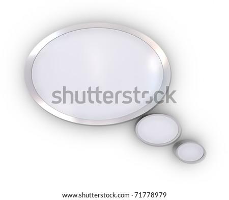 illustration of speech bubble on white - stock photo