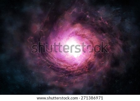 Illustration of Spiral Galaxy - stock photo