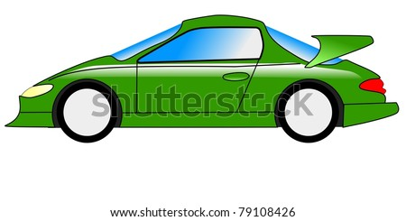 Illustration of sport car