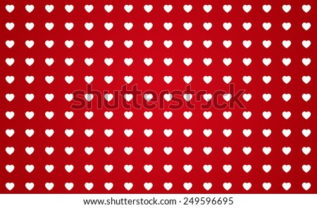 Illustration of St. Valentine's day red pattern background - stock photo