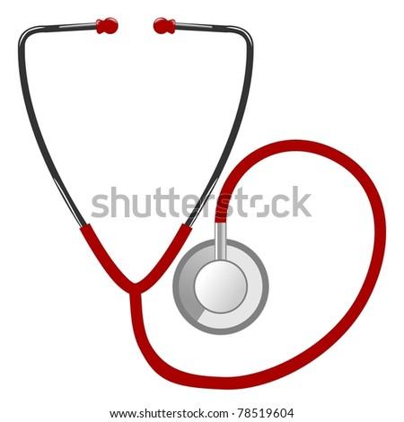 Illustration of stethoscope - stock photo