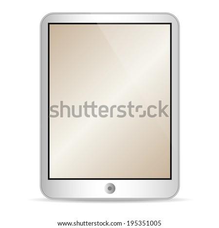 Illustration of tablet on white  - stock photo