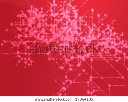 Illustration of technical data flows and nodes - stock photo