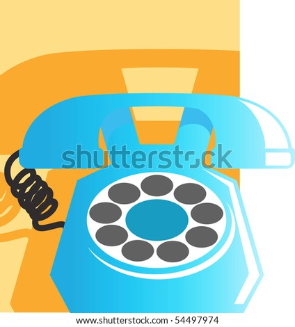 Illustration of telephone receiver in cradle - stock photo