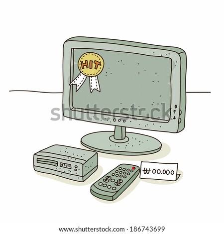 Illustration of television on sale