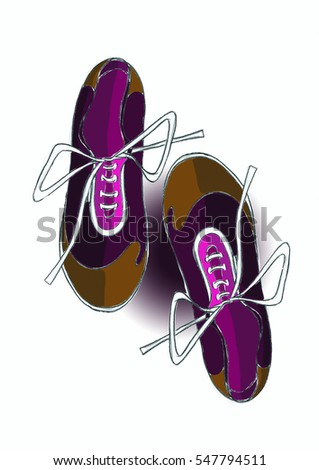 Illustration of tennis shoes