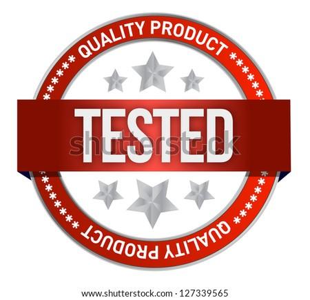 illustration of tested icon on white background - stock photo