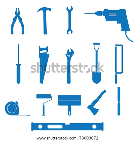illustration of the building instrument - stock photo
