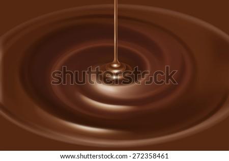 Illustration of the chocolate source. / Liquid. - stock photo