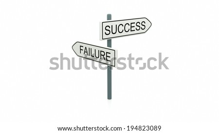 Illustration of the choice between success and failure and which path to take