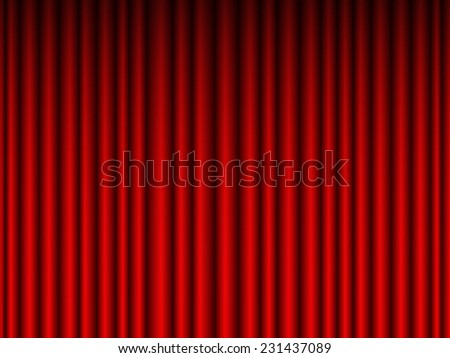 Illustration of the crimson curtain background