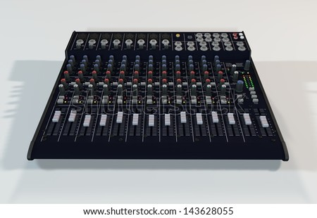 Illustration of the 3D rendered Audio Mixer - stock photo