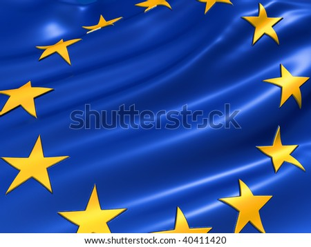 Illustration of the European Union flag - 3d render