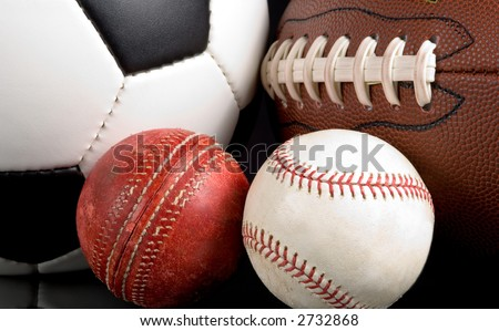 "Illustration of the evolution and change of sport - from European Football or Soccer to American Football: Cricket to Baseball - ""Things change"" -"