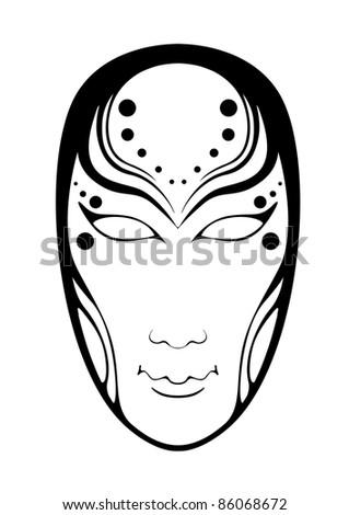 Illustration of the female mask - stock photo