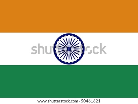 Illustration of the flag of India - stock photo
