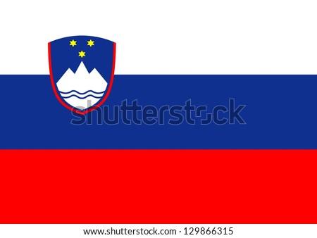 Illustration of the flag of Slovenia - stock photo