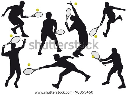 Illustration of the game of tennis