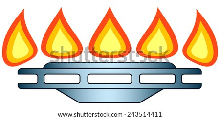 Illustration of the gas-stove burner icon - stock photo