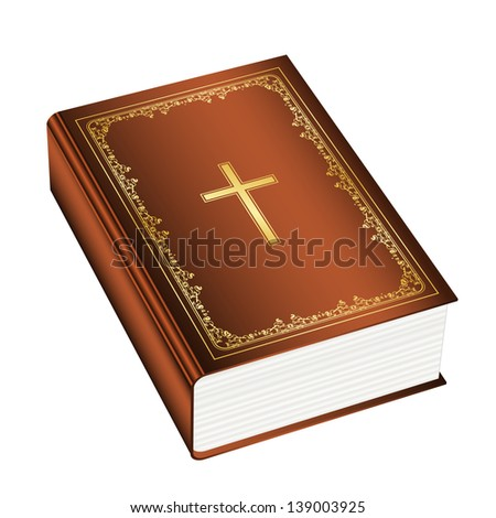 Illustration of the Holly Bible - stock photo