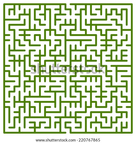 Illustration of the maze for leisure - stock photo