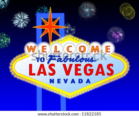illustration of the neon illuminated Las Vegas sign