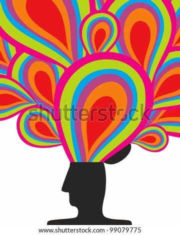 Illustration of the people that create interesting ideas - stock photo