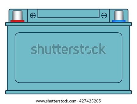 Illustration of the storage battery icon - stock photo