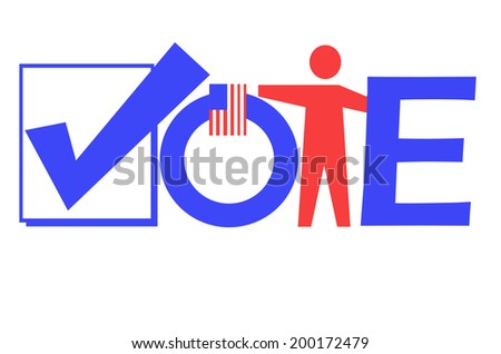 illustration of the word vote - stock photo