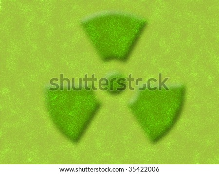 illustration of the yellow and green nuclear sign