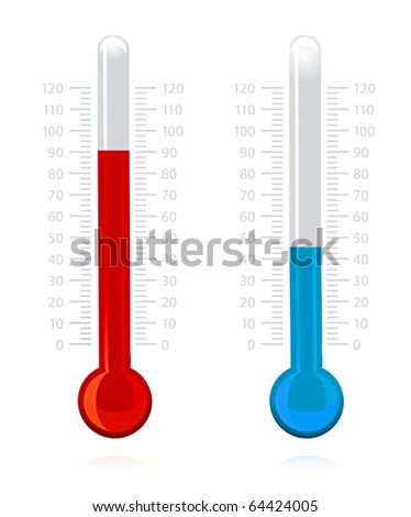 illustration of thermometer on isolated background