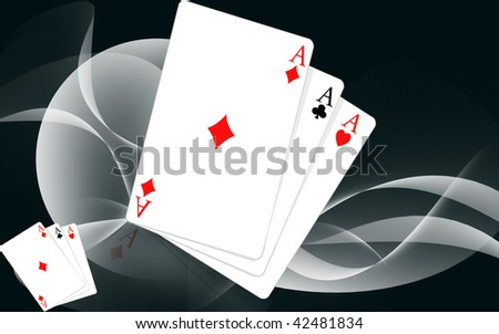 Illustration of three playing cards