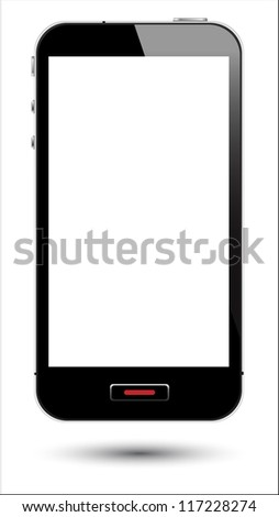 illustration of touch screen smartphone.