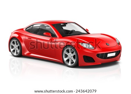 Illustration of Transportation Technology Car Performance Concept - stock photo