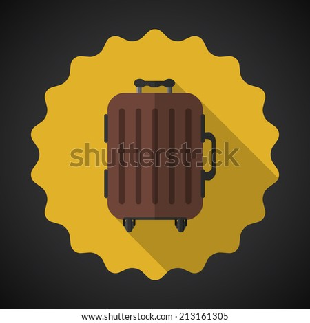 Illustration of Travel Airport Luggage Flat icon background