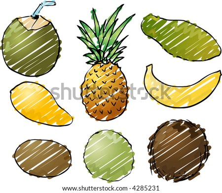tropical fruits h