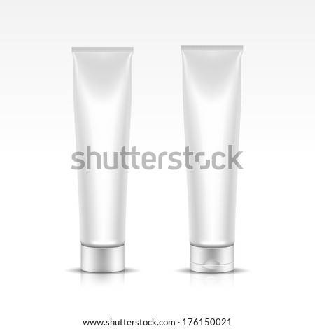 Illustration of Tube for Cosmetic Package Isolated on White Background - stock photo