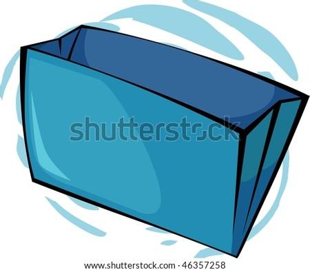 Illustration of two blue colour folders - stock photo
