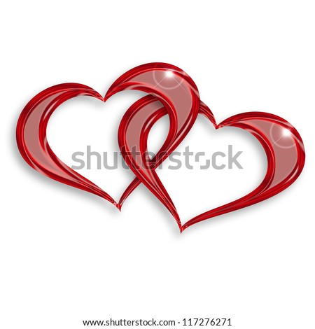 Image Of Entwined Hearts