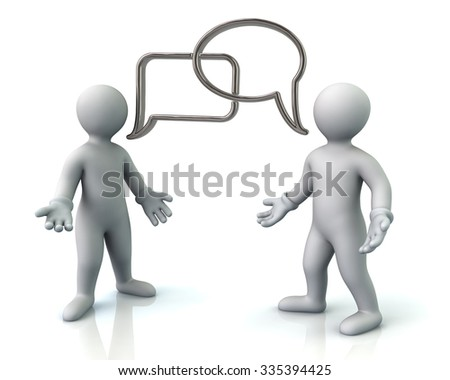 Illustration of two men discussing - stock photo