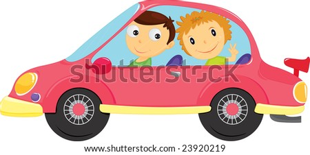 Illustration of two people going for a drive