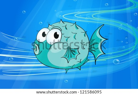 illustration of under water fish