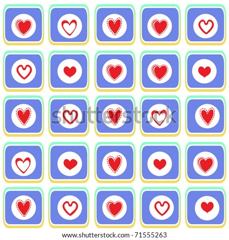 illustration of Valentine's Day background, decorated with beautiful hearts.